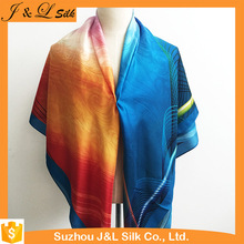 Best-selling Customized Digital Logo Silk Satin Scarf