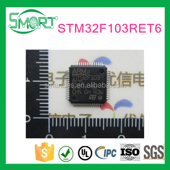 Smart bes STM32F103RET6 chip 32 bit microcontroller CORTEXM3 512K flash LQFP-64