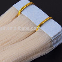 100% virgin human hair,Double Side Tape Remy Hair Extensions