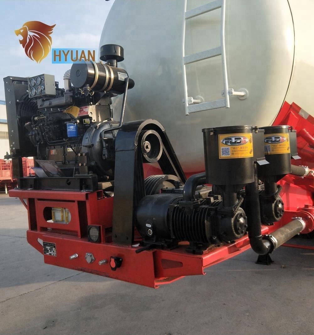 Hot Selling Hyuan 3 Axles 60 T Bulk Cement Tanker Semi