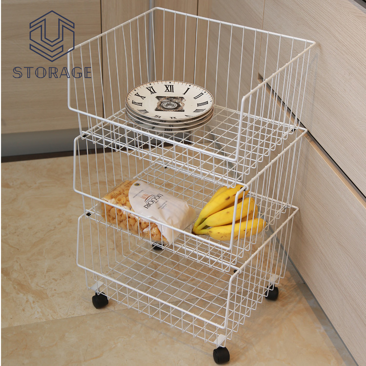 Wire Stacking Basket With Wheels, Wire Stacking Basket With Wheels  Suppliers And Manufacturers At Alibaba.com