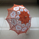 Lovely Lace Parasol with Antique Cutwork - Craft Umbrella