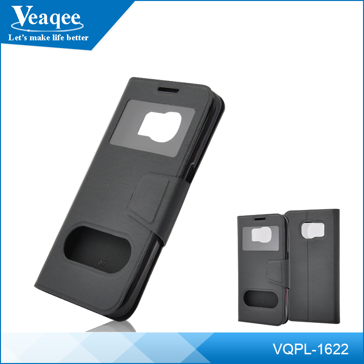 Veaqee Wholesale universal PU leather mobile phone folio cover leather case