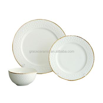restaurant porcelain royal wedding plates high quality luxury porcelain dinner set with gold rim  sc 1 st  Alibaba & Restaurant Porcelain Royal Wedding Plates High Quality Luxury ...