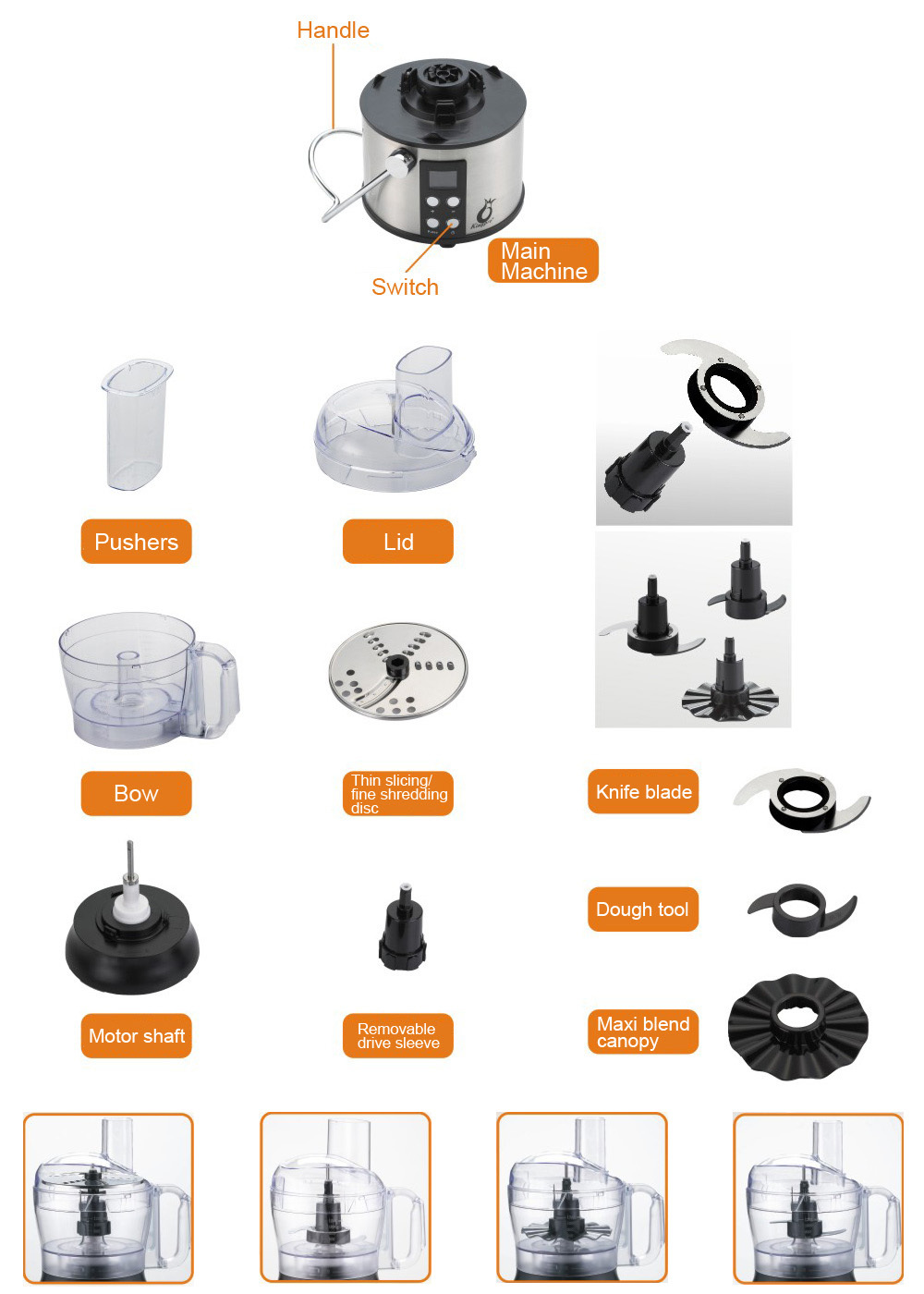 Parts For Kenmore Food Processor  A