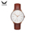 Silver case mechanical watch automatic movement simple design custom men watch