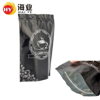Custom printed stand up pouch coffee bag