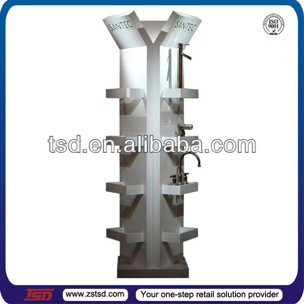 tsd w303 custom retail store high quality wood floor faucet displaydisplay stand for