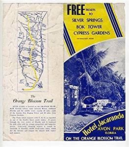 Hotel Jacaranda Brochure Avon Park Florida 1940's Orange Blosson Trail