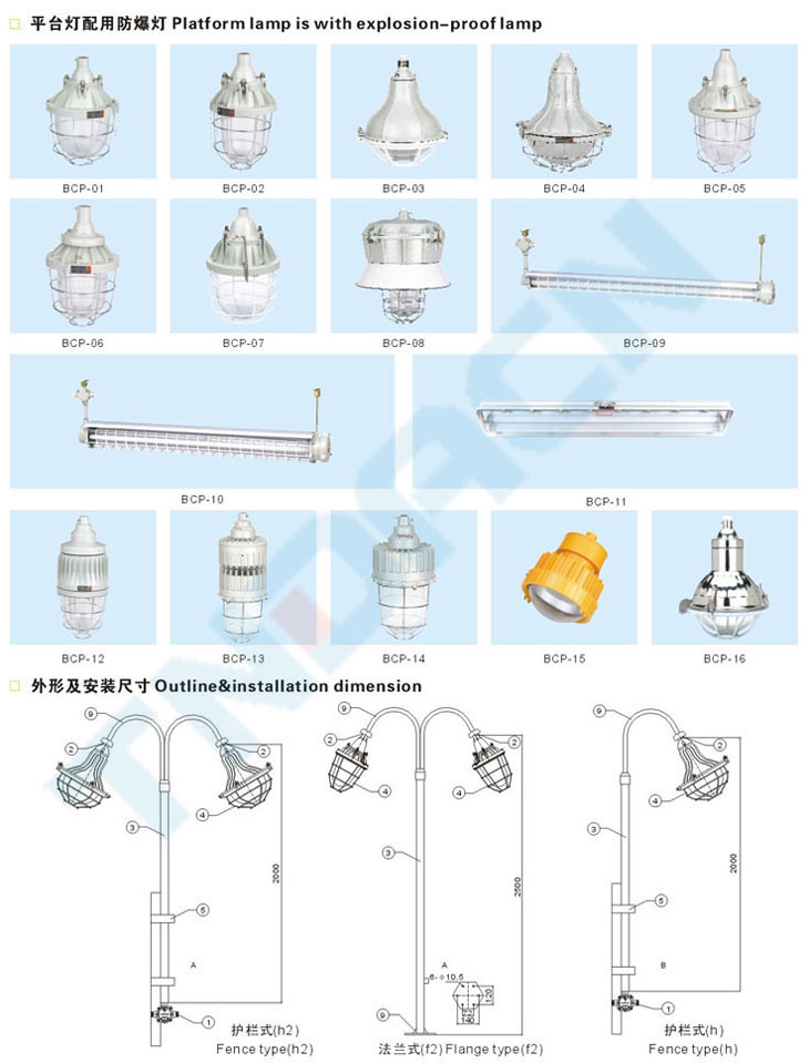 BCP type explosion proof platform lamp
