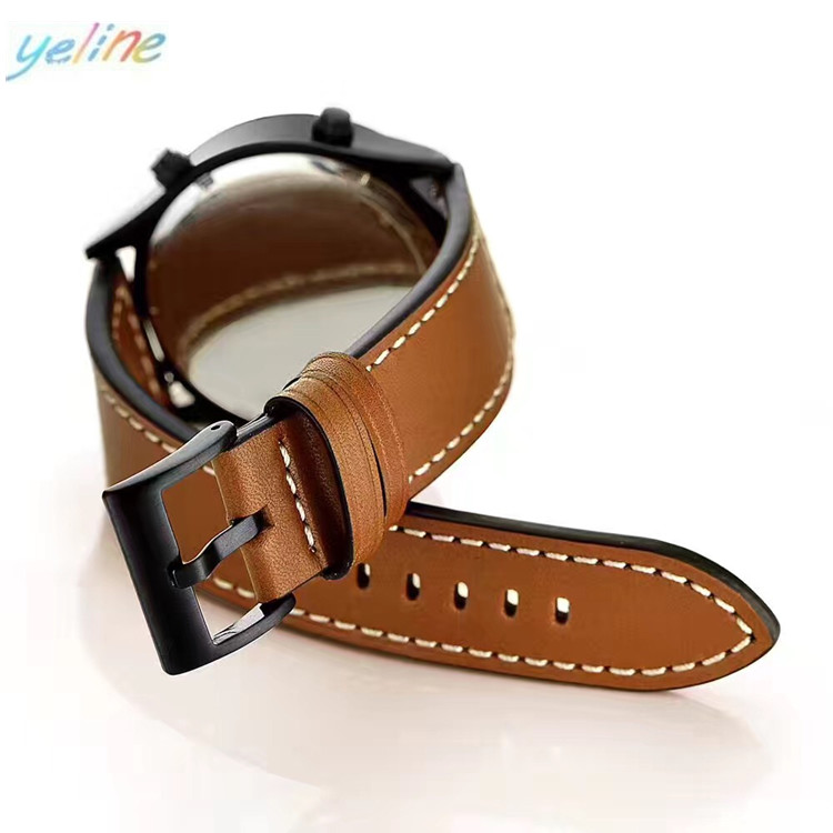Genuine! For Samsung S3 watch sewing leather watch band