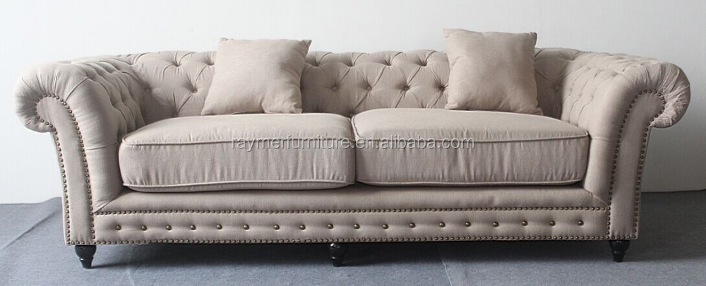 Upholstered Fabric Sofa Set Chesterfield Tufted Sets On Lounge