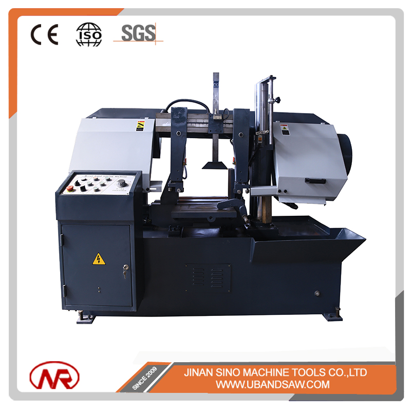 High quality GZ4235 semi auto hydraulic double post horizontal metal bandsaw