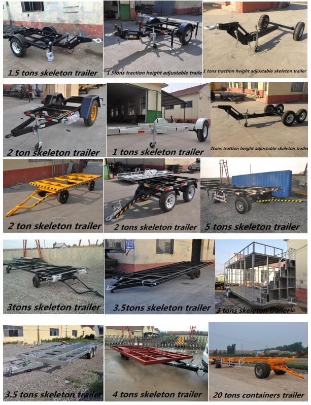 कृषि परिवहन गठरी ट्रैक्टर flatbed ट्रेलर प्लेटफार्म ट्रेलर