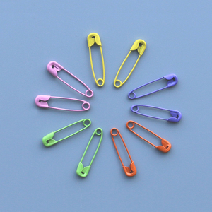 Decorative Fancy Assorted Color Metal Loop Safety Pin