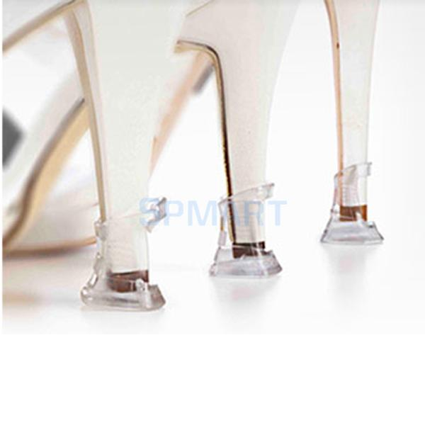 8aa6aee8b2d Get Quotations · SPMART 3 Pairs Clear Stiletto High Heel Protectors Covers  Shoes Stoppers High Heelers Size S M L