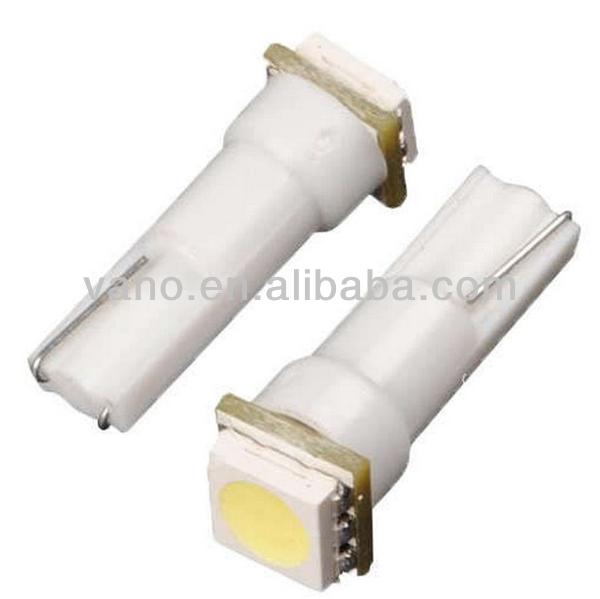 Led Auto Bulb Base W2x4.6d Concave Surface White 12v T5 Led Light ...