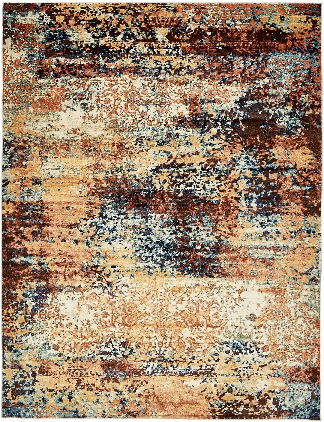 Modern Vintage Design Inspired Overdyed Fancy Rugs (Brick Red - 9' x 12'-Feet) Fashion Collection Area Rug Living and Dinning Room Bedroom Carpet