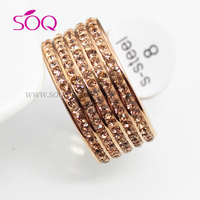 QR-0083 custom high quality stainless steel wedding fine diamond ring titanium rings for gemstone wholesale