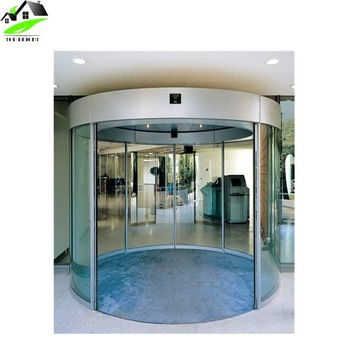 Exterior Aluminium Model Glass Curved Sliding Door For House