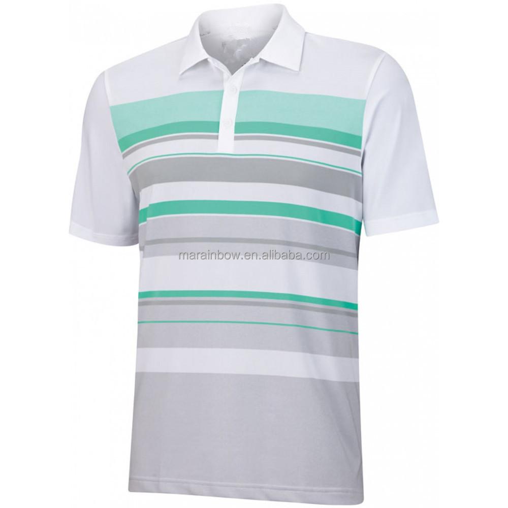 Custom Made Sports Performance Stripe Polo Shirt Sublimation