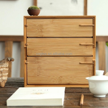 Charmant Small Bamboo Storage Box Bamboo Drawer Box 3 Drawers