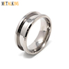 8mm Titanium Ring Blank for Inlay Groove width 4mm Beveled Edge Design