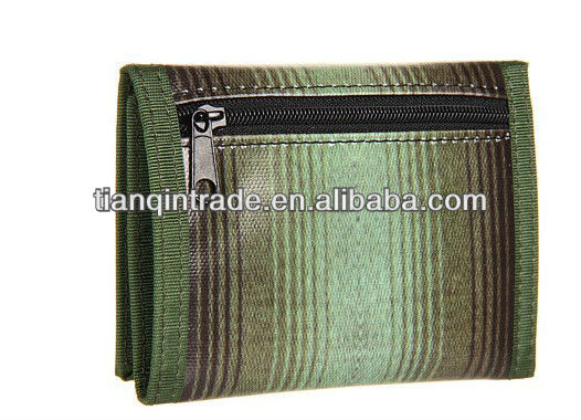 Polyester Army Green Wallet