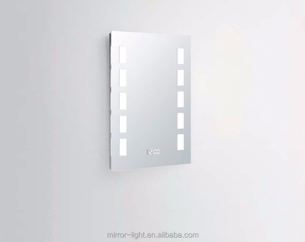 led bathroom mirror with digital clock, led bathroom mirror with