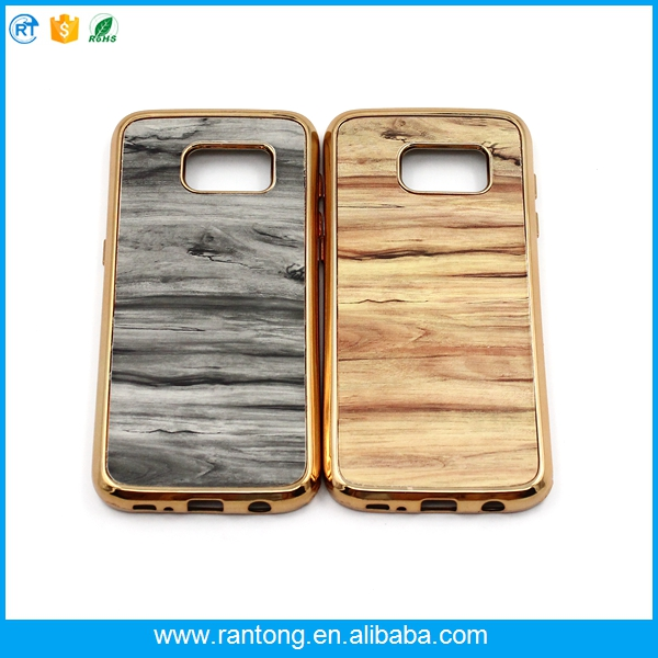 2017 new wooden electroplate TPU cell phone case for iphone 5c cases