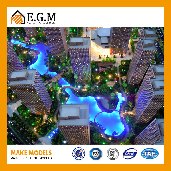 Customized Commercial Complex Building Model Architectural Model ...