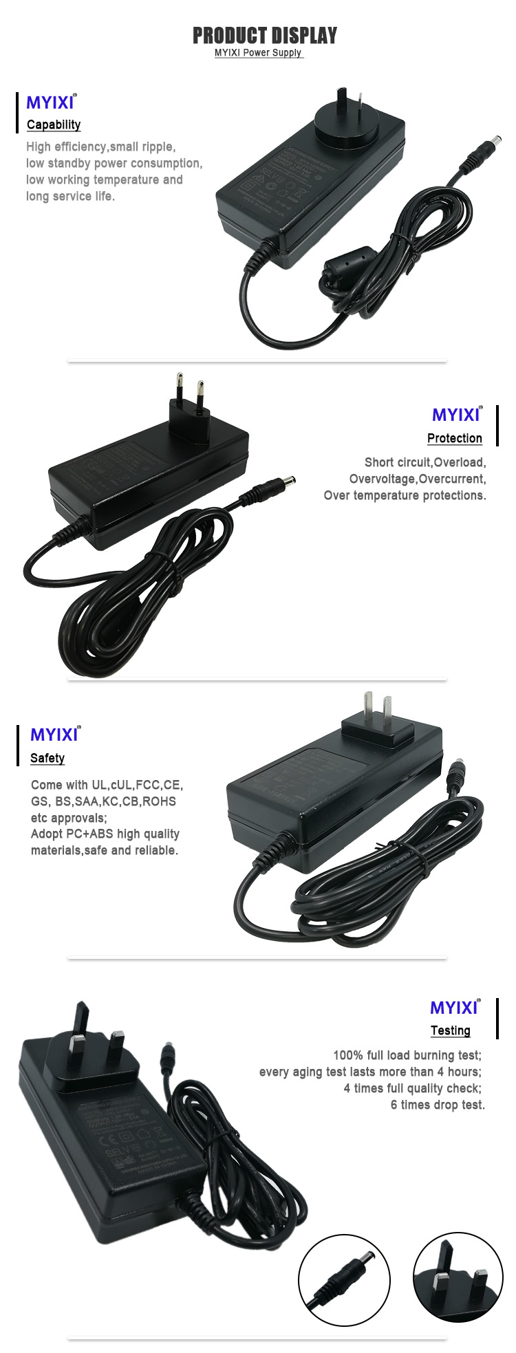 MYIXI zf120a-1205000 12 V 5A adaptador de energia digital photo frame