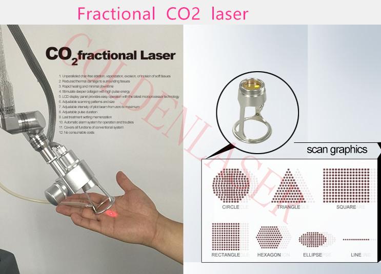 Машина красотки частичная СО2 машина красотки лазера/10600nm Удаление Шрама СО2 частичный лазер