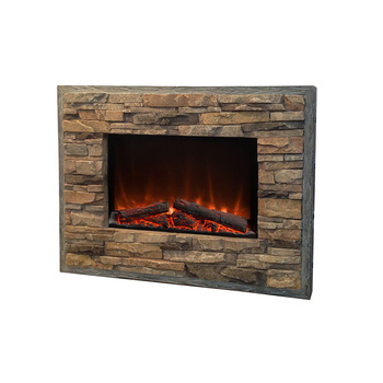 Ce Electric Fireplace Wall Mounted Faux Stone Look Face Fire Heater Place Erp