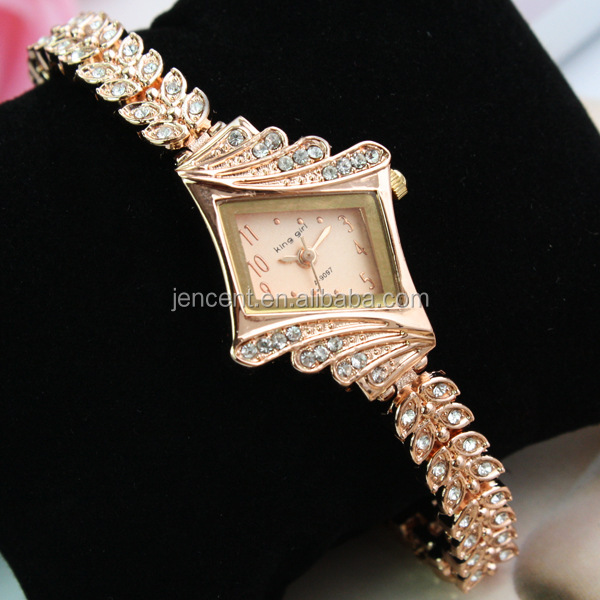 2018 fashion ladies watch bracelet slim stone quartz watch women