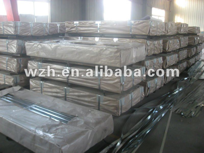 colored corrugated metal roofing sheet for warehouse