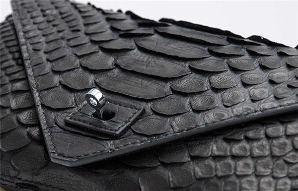 Ladies Luxury Real Python Snakeskin Clutch Bags Black Evening Bags Factory Price