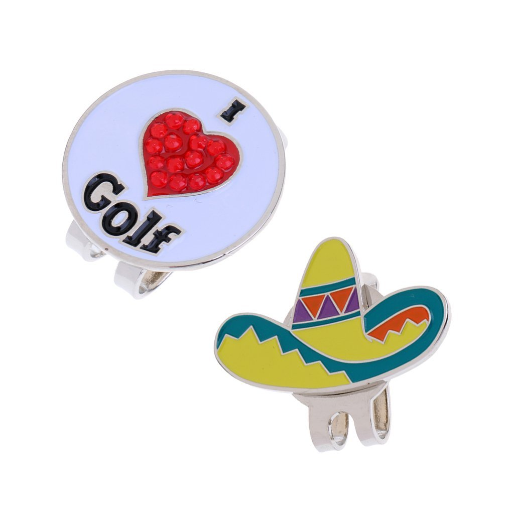 Dovewill 2 Pieces Golf Hat Clip With Detachable Magnetic Golf Ball Marker Cap Clip Golf Gift