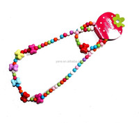 Kids Beads Necklace Plastic Bead Necklace For Kids