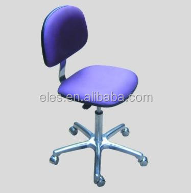 type Options &cleanroom PVC or PU leather esd chair with rollers