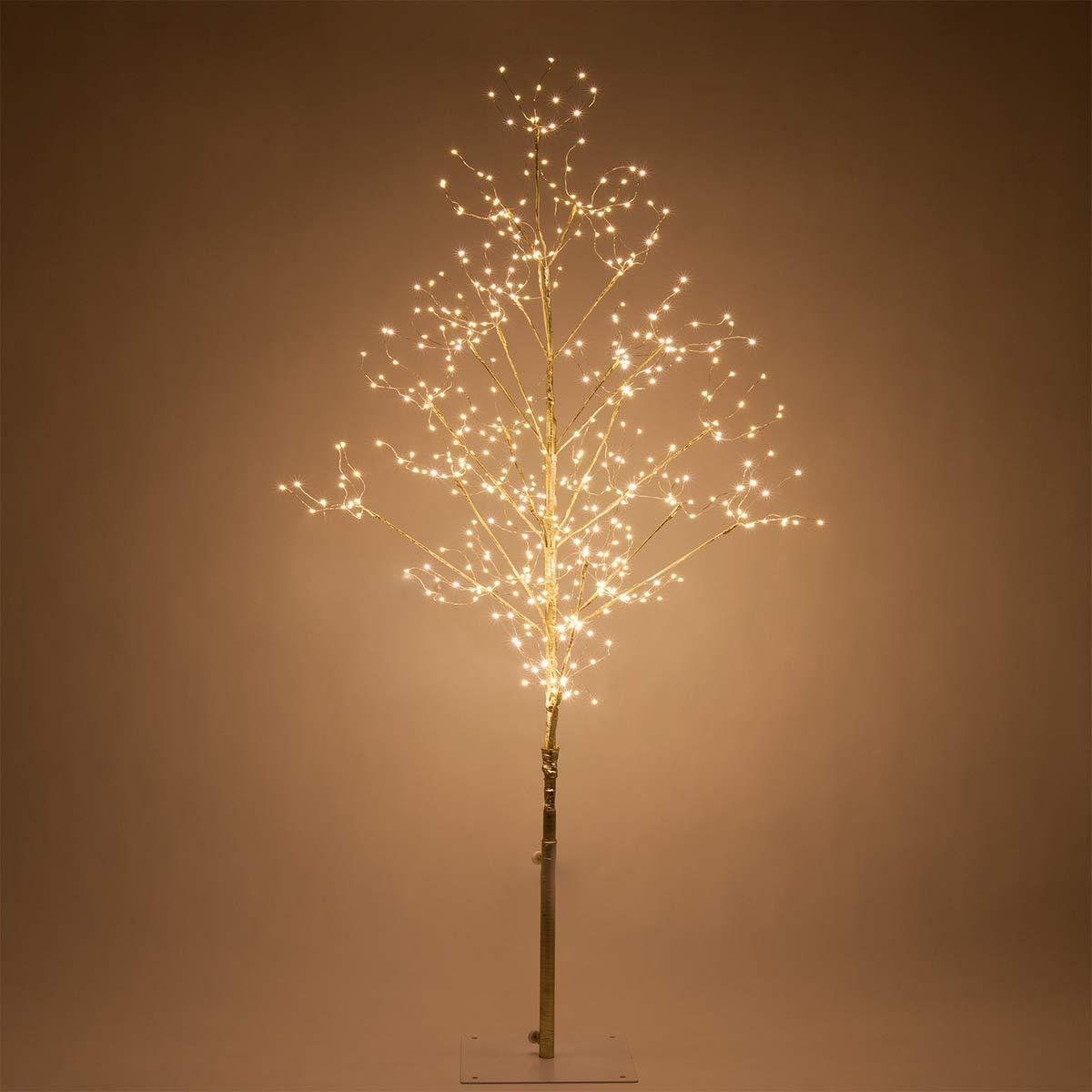 Fairy Light Tree Indoor-Outdoor Decor Lighted Tree with Fairy Lights, Globe Light Tree, Light Ball Tree with Globe Lights (4 Ft, Gold Fairy Light Tree, Warm White Lights)