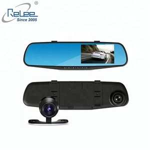 HOT 4.3inch Dual lens dash cam 1080p Full HD Car DVR Rearview Mirror Car Camera