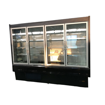Commercial Supermarket Beverage Display Glass Door Fridge