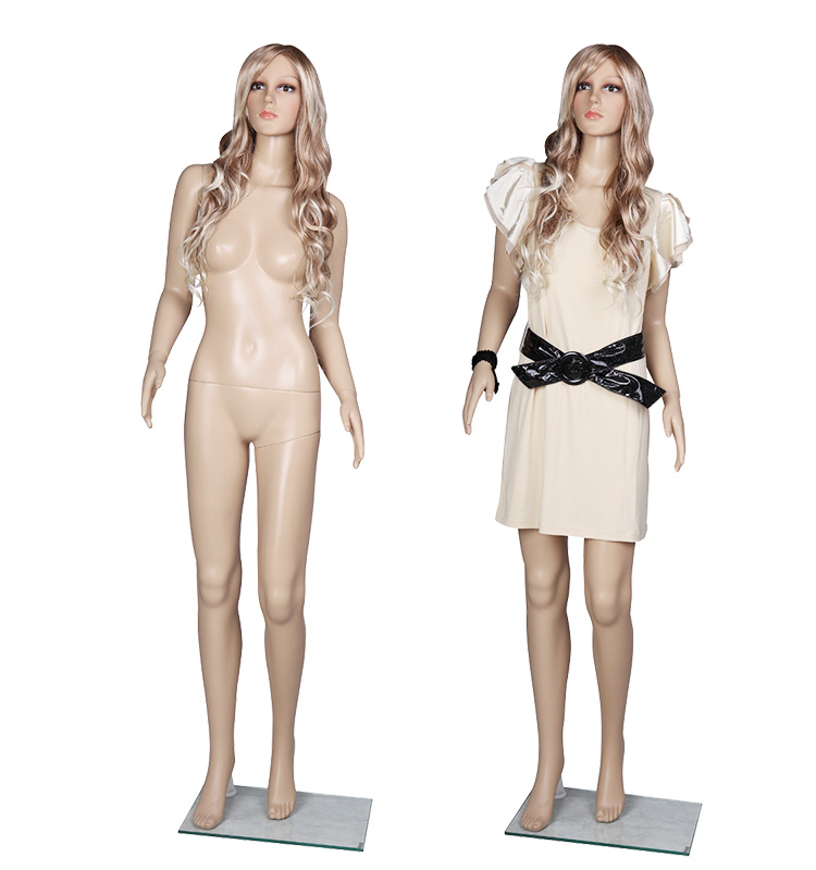 Lifelike full body standing plastic female mannequins
