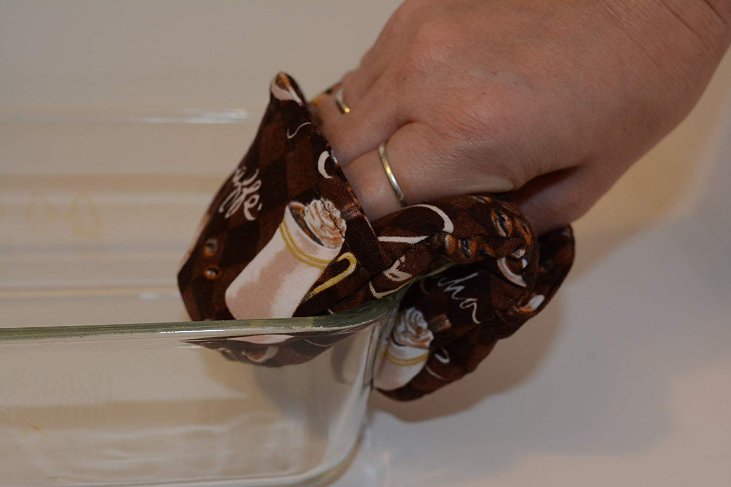 Mini Oven Mitts // Set of 2 // Fingertip Oven Mitts // Morning Coffee