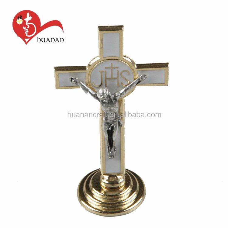 Custom natural wholesale metal and wood material religious wall crucifix for christianity