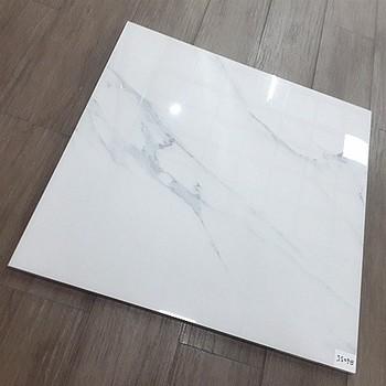 White Color Glazed Porcelain Crystal Polished Marble Floor Tiles 60