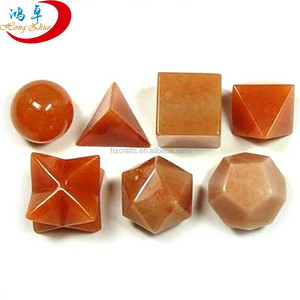 Orange Aventurine Scared Geometry Set & Platonic Solid Sets