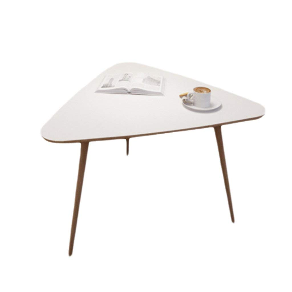 NUBAO Coffee Table Side Table Tea Tables Tables Small Triangle Tables Modern Tea Tables Triangles (Color : White)