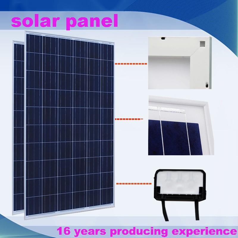 Lowest Price 2000 Watt Poly Solar Panel System Price 250w